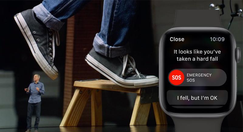 Apple Watch S4 GPS 44mm space Grey (MU6D2VN/A) - té ngã